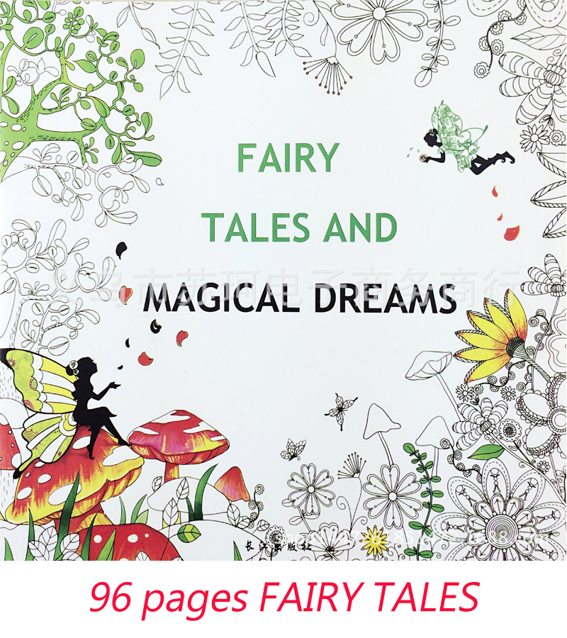 ENGLISH FAIRY TALES fairy tale dream dreams fairy tale coloring book for children under reduced book art supplies tales