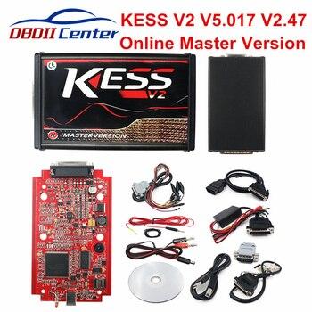 DHL KESS V2 Online 5.017 ECU Chip Tuning Tool KESS 2 V5.017 V2.47 Full Set OBD2 Master ECU Programmer Car Truck Diagnostic Tool