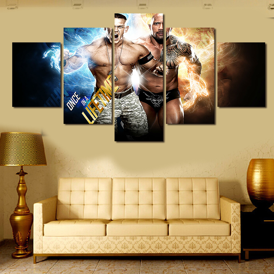 5Panel Modular Wall Painting Top rated Boxing Superstar Modern ...