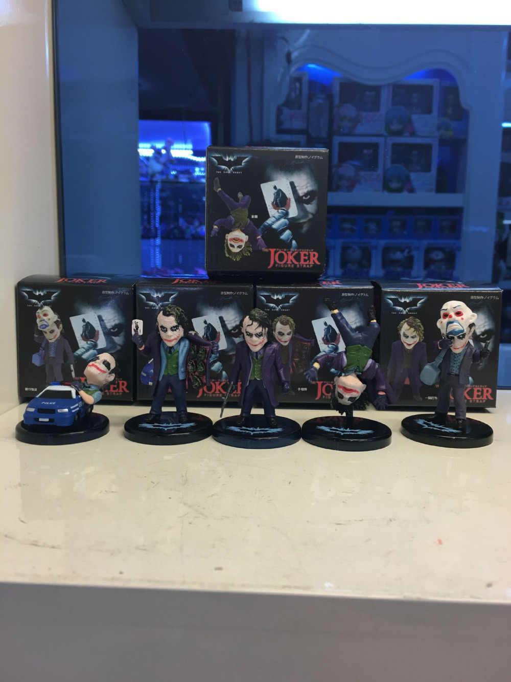ألين 5 قطعة/المجموعة dc كاريكاتير نموذج باتمان جوكر المهرج 5 سنتيمتر/1.97 بوصة لعبة دمية نموذج عمل أرقام اللعب للهدايا