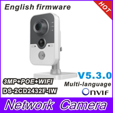 2015 DS-2CD2432F-IW 3MP w/POE IP network camera Built-in microphone DWDR & 3D DNR & BLC Wi-Fi DS-2CD2432F-I (w)