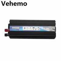 2000W Car Auto Power Inverter Charger Output Socket DC12V To AC110V Portable