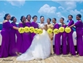 Nigerian Wedding African Bridesmaid Dresses Mermaid Sexy Off the Shoulder Elegant Purple Maid of Honor Dress Long Party Gowns