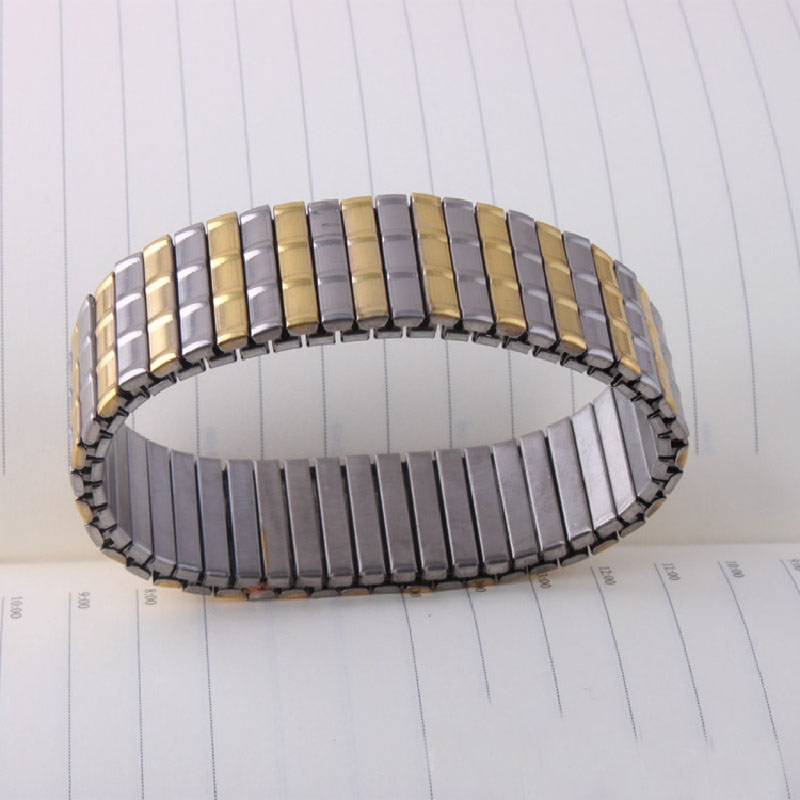 YYW Stainless Steel Jewelry Bracelet new, plated, for man & two tone, 18mm, Sold Per Approx 87 Inch Strand