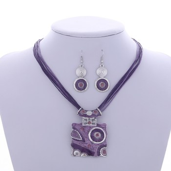 Fashion Geometric Jewelry Sets Jewelry Jewelry Sets Women Jewelry Metal Color: F833