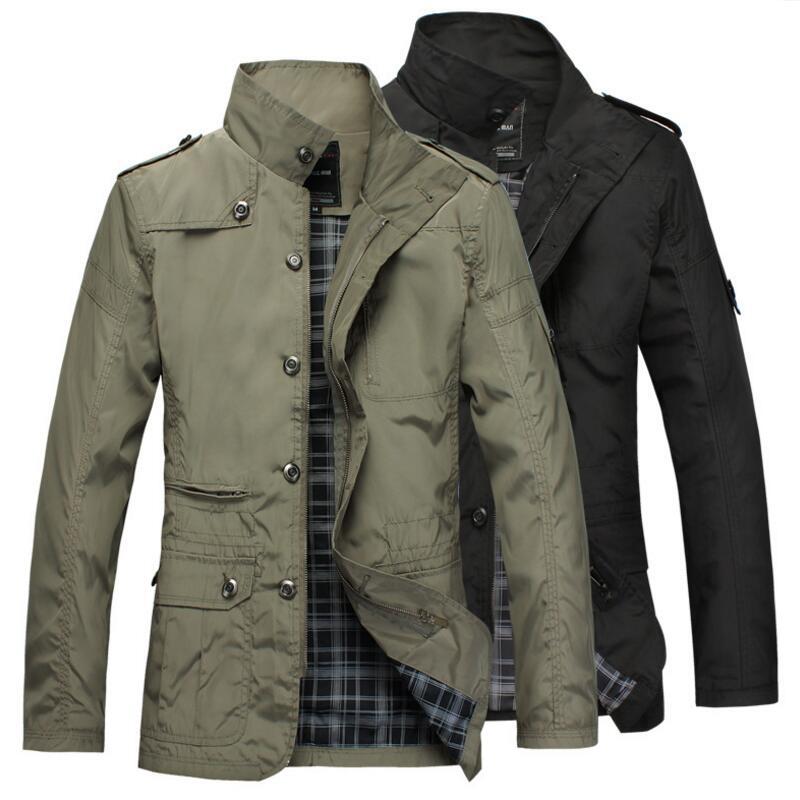 2019 Men Jacket Coat Long Section Fashion Trench Coat Men windbreaker Brand Casual Fit Overcoat Jacket Outerwear Large size 5XL