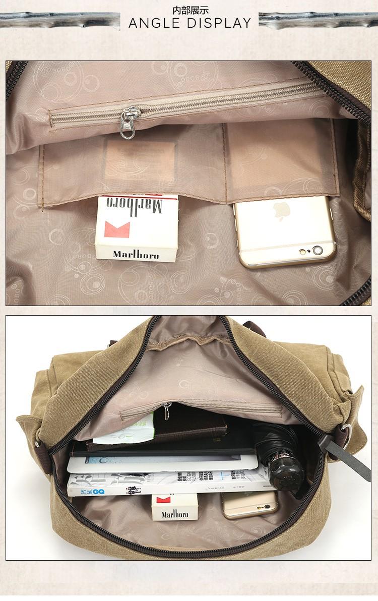 2016 men\'s travel bag canvas men messenger bag brand men\'s bag vintage style briefcase,Travel Shoulder bag (7)