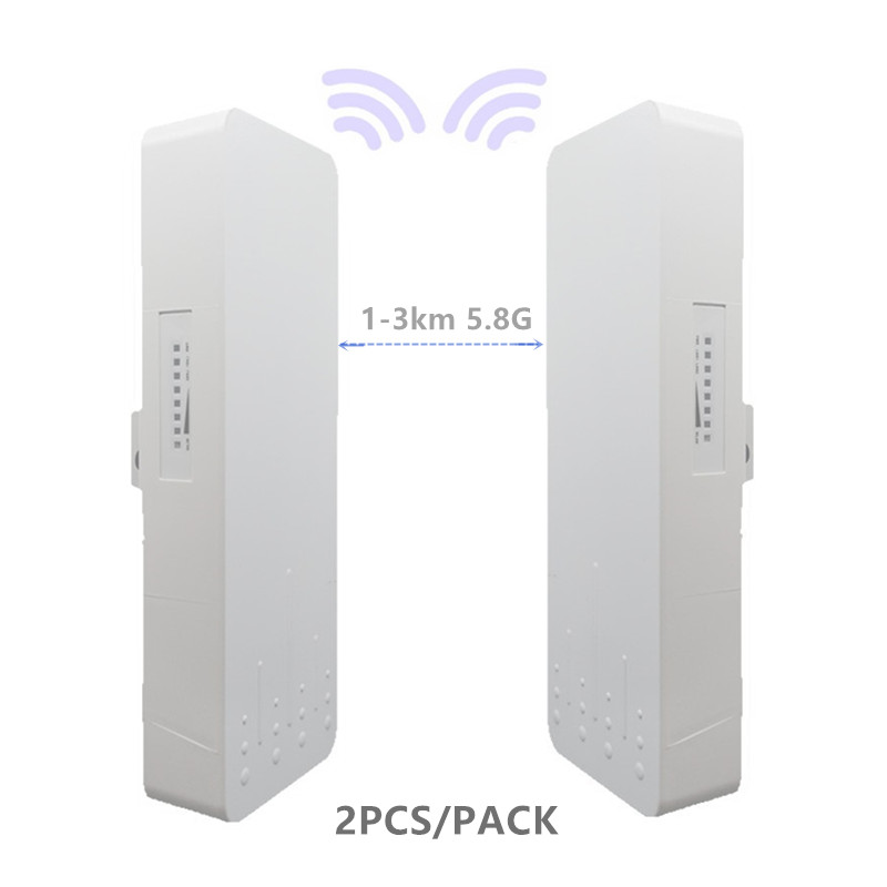 2 Pieces 1-3km 300 Mbit Open Router CPE 5.8G Wireless Access Point Router Wi-Fi Bridge Device Wifi Extender Dual Band  Repeater