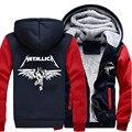 Free Shipping USA size Men Women Metallica Zipper Jacket Sweatshirts Thicken Hoodie Coat Clothing Casual