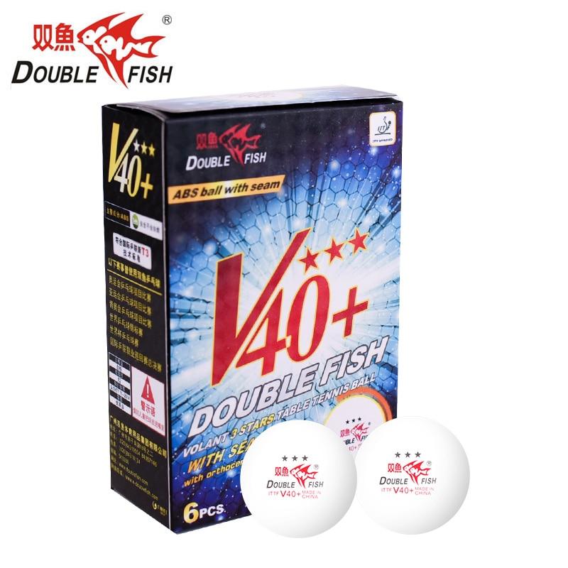 DOUBLE poisson Volant V40 + 3 étoiles balles de Tennis de Table balle de Ping-Pong ITTF approuvé nouveau matériel balle officielle pour