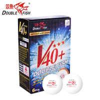 Duplo peixe volant v40 + 3 estrelas bolas de tênis mesa ping pong bola ittf aprovado novo material bola oficial para