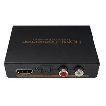 HDMI para HDMI e Toslink Ótico (SPDIF) + RCA (L/R) áudio Estéreo de 3.5mm Adaptador Conversor Extrator de Áudio HDMI Splitter HDMI Entrada