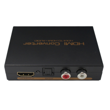 HDMI to HDMI and Optical Toslink(SPDIF) + RCA(L/R) 3.5mm Stereo Audio Extractor Converter HDMI Audio Splitter Adapter HDMI Input