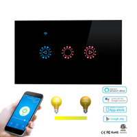 US/AU Dimmer Wifi Touch Wall Light Switch Glass Panel Remote control by eWeLink App for Amazon Alexa and Google home Smart Home
