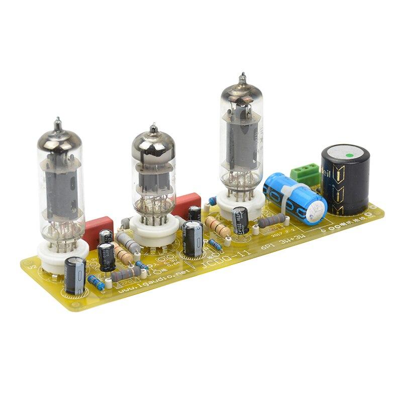 Aiyima 6N1 + 6P1 Valve Stéréo Amplificateur Conseil Amplificateurs À Tube À Vide Filament AC Alimentation + 3 pcs Tubes