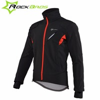 ROCKBROS Cycling Jacket Mountain Bike Windproof Jacket Bicycle Clothing Men Winter Sportswear Long Sleeve Cycling Equipment