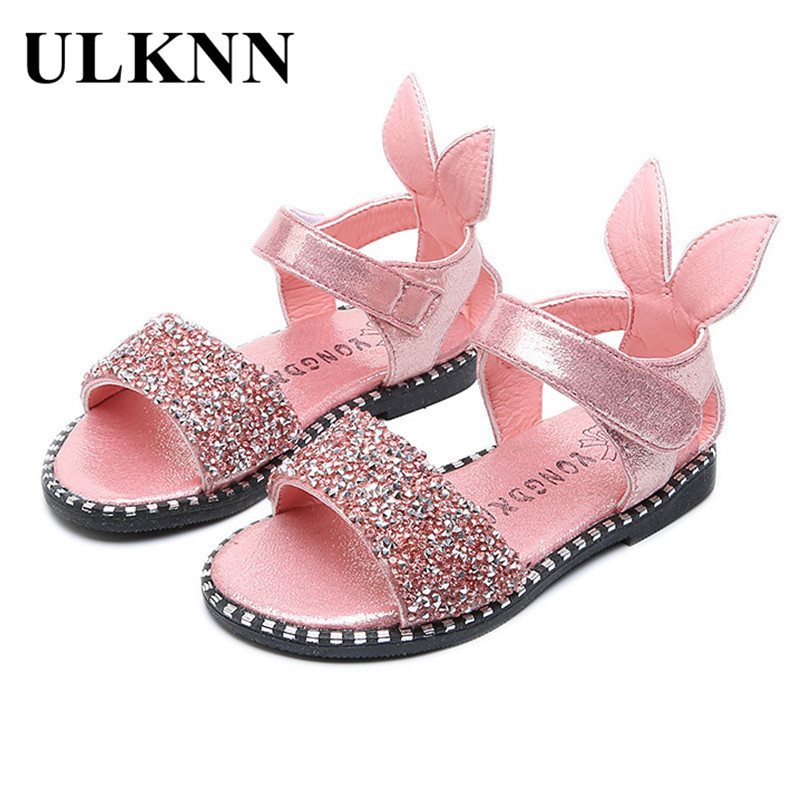 ULKNN Children Shoes Toddler Baby Girls Princess Sandals Kids Summer Party Wedding  Glitter Rabbit Sandalias School Casual Shoes-in Sandals from Mother ... e71fe63205bb