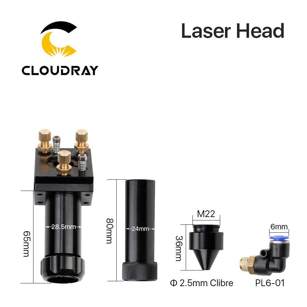 C sorozat: Cloudray CO2 lézerfej fókuszlencséhez Dia.20 FL.50.8 / - Famegmunkáló gépek alkatrészei - Fénykép 2