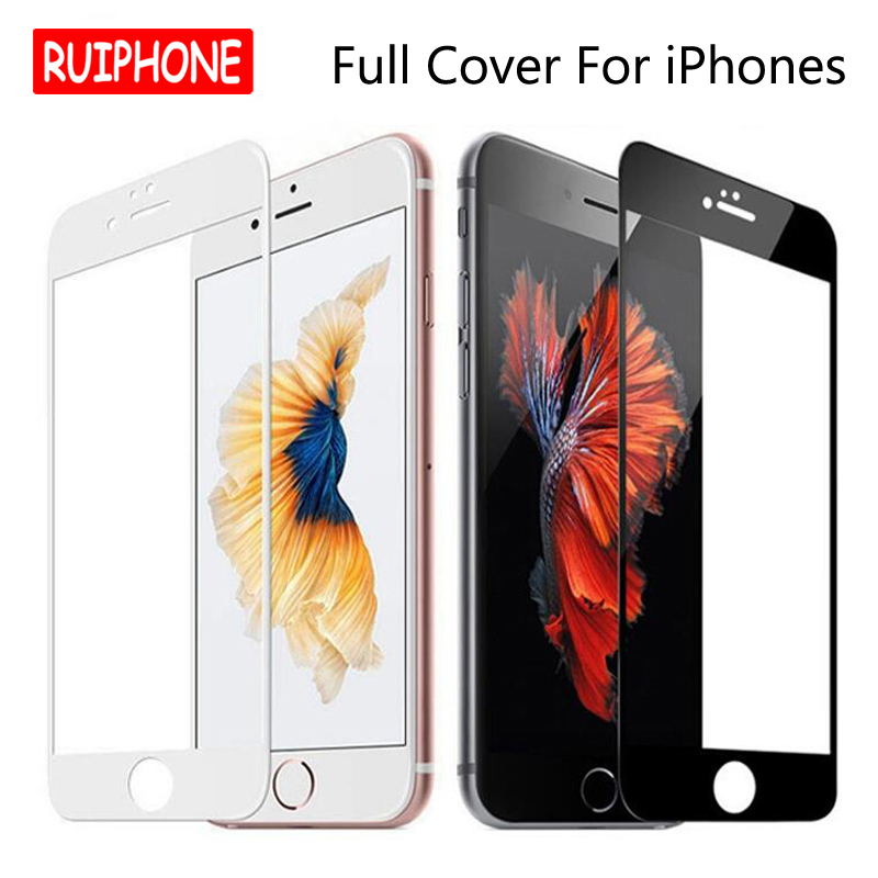 9H 2.5D Full Cover Tempered Glass On IPhone 7 7 8 Plus Explosion-Proof Screen Protector Film For IPhone 6 6s Plus 8 8plus Xs Max