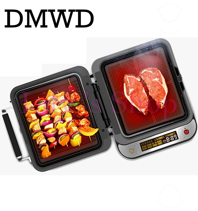 Intelligent Electrical grill Griddle electric Crepe Maker Pizza Machine Roast beef steak frying baking pan Pancake EU US plug jiqi electric baking pan double side heating household cake machine flapjack pizza barbecue frying grilling plate large1200w