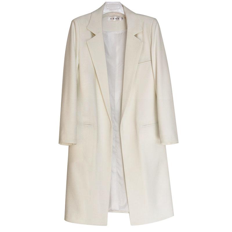Blazer White Blanc navy Casual Solide red Et Automne Femelle Plus Blue Vestes Longues Haute 3xl Black natural Femmes Large 2017 Wine Costumes Qualité Taille La Blazers 354jARLq