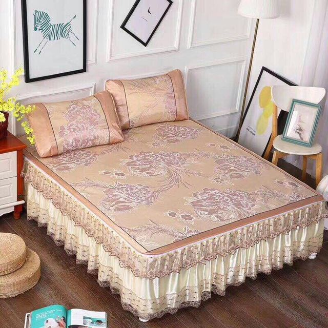 Home Bedding Summer Bed Skirt 180 200cm Queen Size Bed Cover Ice