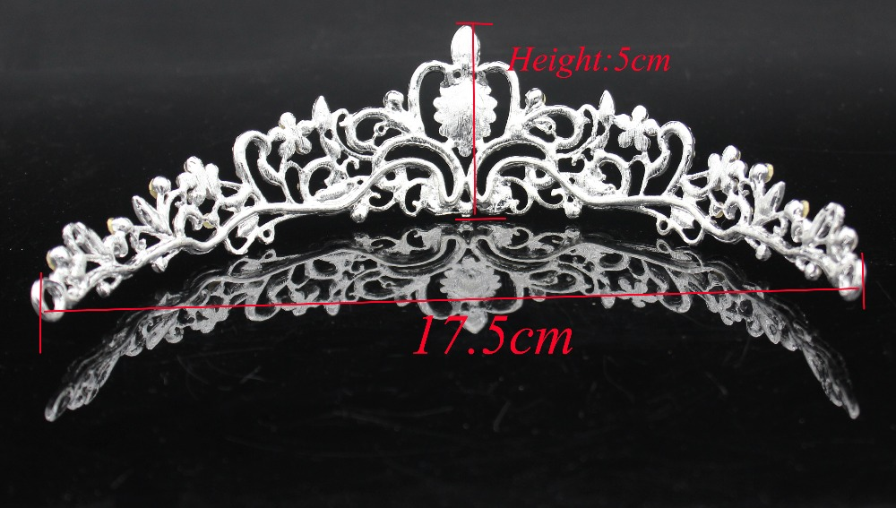 Fashion Crystal Wedding Bridal Jewelry Sets Tiara Crown Earring Necklace Bride Women Pageant Prom Jewelry Set Hair Ornaments 2