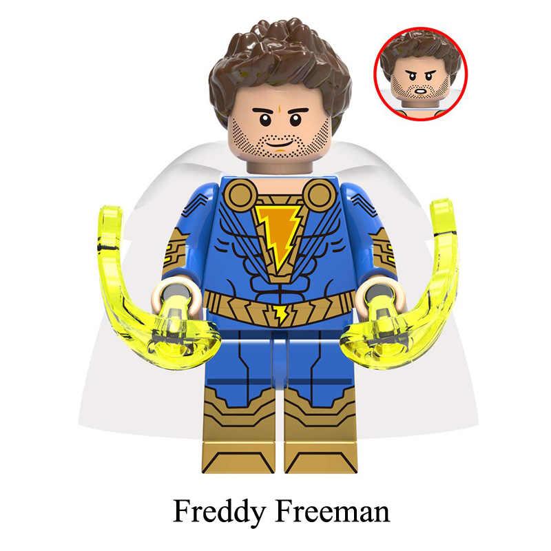 DC Super Hero Shazam Black Adam Freddy Freeman Darla Dudley Sivana мини игрушка фигурка строительный блок кирпич совместим с lego