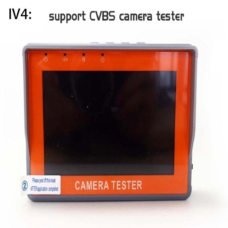 IV4 4.3 Inch CCTV Camera Tester Monitor BNC Analog CVBS Camera Testing UTP Cable Test 12V1A Output CCTV Signal Tester