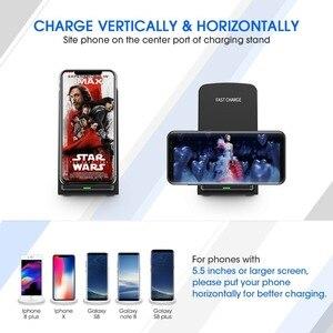 Image 5 - Cargador inalámbrico rápido 10W 9V para el iPhone de Apple 8 X XS XR soporte de escritorio almohadilla de carga inalámbrica para Samsung Note 8 S9 S8 Plus S7 S6
