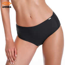 Pant Bikini-Bottom Full-Coverage Briefs Swimsuit Sexy High-Waist Beach Women Solid AXESEA