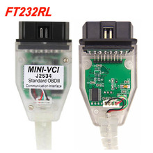 أحدث إصدار من V15.00.000 واجهة VCI صغيرة لسيارة TOYOTA TIS Techstream MINI vci FT232RL رقاقة J2534 OBDII OBD2 أداة تشخيصية
