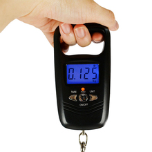 High 1pcs Double Precision 50kg LCD Digital Hook Scale Portable Mini Fishing Luggage Pocket Hand Electronic Weight Balance Black