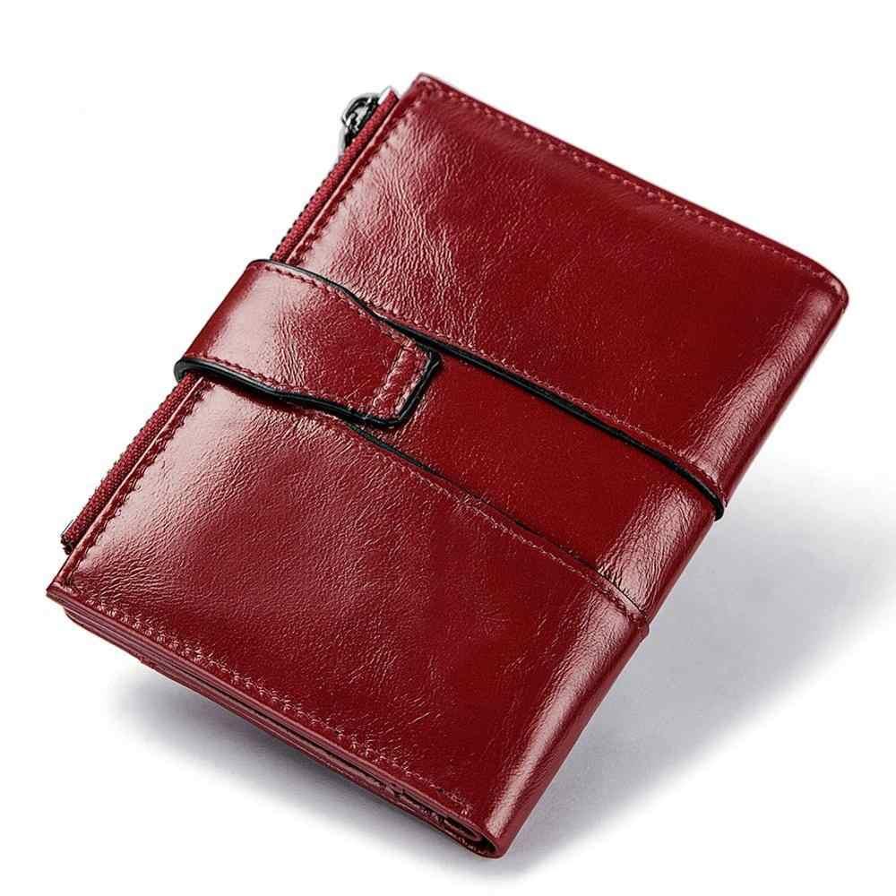 ของแท้หนังผู้หญิงกระเป๋าสตางค์ขนาดเล็ก ID ผู้ถือบัตรเครดิตกระเป๋าถือเหรียญกระเป๋ามินิสุภาพสตรีกระเป๋าสตางค์น่ารัก Luxury ยี่ห้อ Tarjetero Hombre