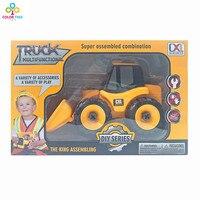 Лидер продаж грузовик бульдозер DIY Собранный Комбинации дети Игрушечные лошадки грузовик для игры