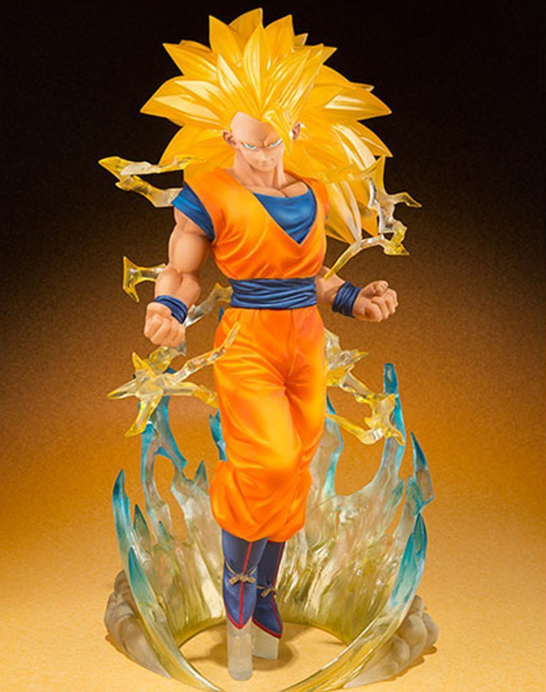 New Arrival Dragon Ball Z Bandai Tamashii Nations Figuarts Zero Super Saiyan 3 Son Goku Gokou Action Figure 7 Inch H