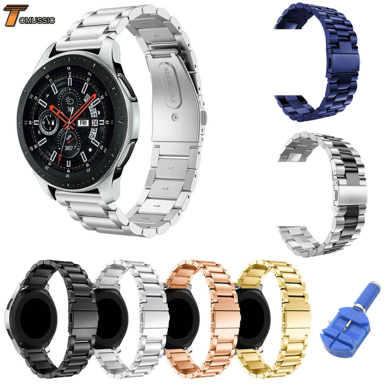 8 Colors Stainless Steel Watchband for Samsung Galaxy Watch 46mm SM R800 Sports Band Strap Wrist