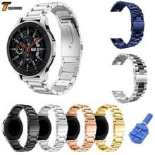 8 цветов Нержавеющаясталь ремешок для samsung Galaxy часы 46 мм SM-R800 спортивный ремешок запястье браслет серебристый, черный золото