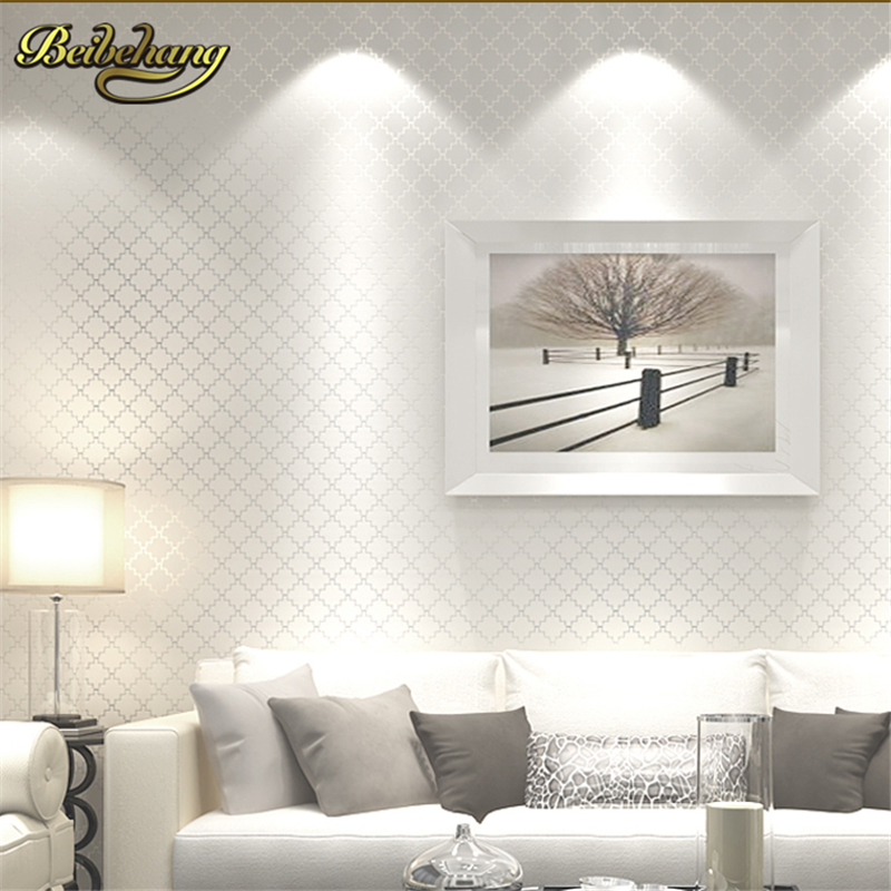US $28.98 31% OFF|beibehang papel de parede 3d Luxury glitter wallpaper  lattice gram wall paper home decor for living room bedroom papel parede-in  ...