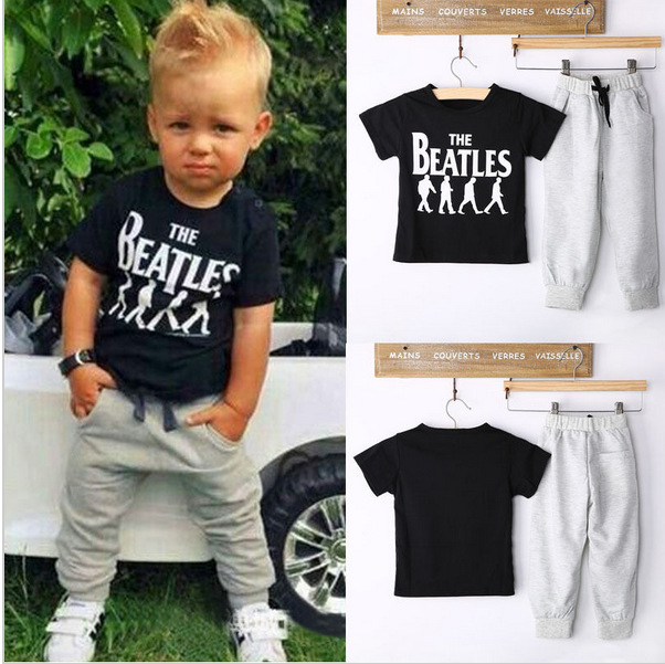 8a3f9252dc7c 2Piece 0 5Years Spring Summer Kids Clothes Suits For Baby Boys Outfit  Letter T shirt+Casual Pants Children Clothing Sets BC1109-in Clothing Sets  from Mother ...