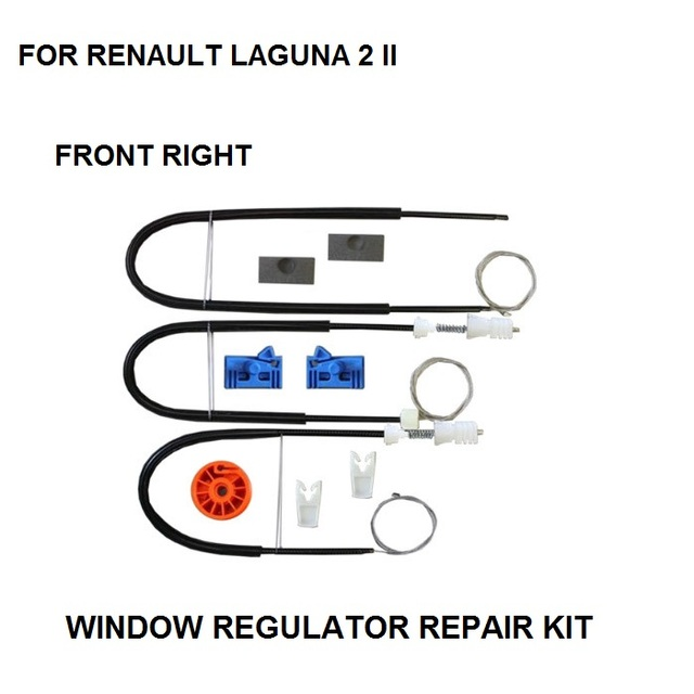 2001-2007 KIT de REPARO do REGULADOR DA JANELA ROLO PARA RENAULT LAGUNA II 2 KIT de REPARO do REGULADOR DA JANELA LATERAL FORNT-RIGHT