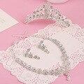 3 компл./лот невесты свадебные украшения цепи ожерелье NY серьги творческий невеста из трех частей сплава ювелирные изделия оптом