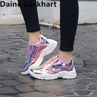 Fashion 2019 Sneakers Woman Shoes Summer Bling Trainers Shoes Lace Up Female Platform Shoes Women tenis feminino zapatos mujer