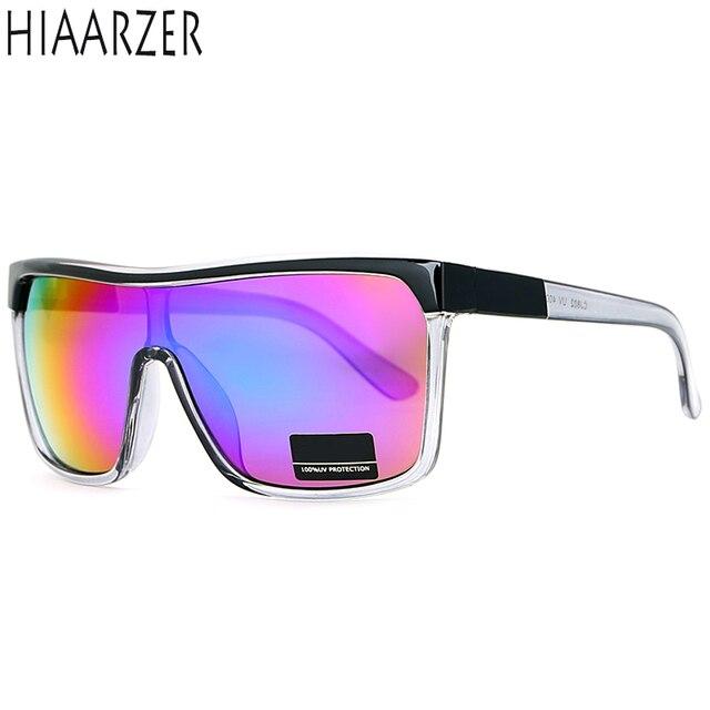 0bc718bddb8 High Quality Flynn Oversize Shield Sunglasses Men UV400 Sport Sun Glasses  Women Vintage Big-size Goggles Eyewear Shades With BOX