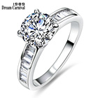 DreamCarnival 1989 Wedding Ring Special Moment For Her Best Surprise Gift Simple Top Quality Engagement Jewelry SJ22535R