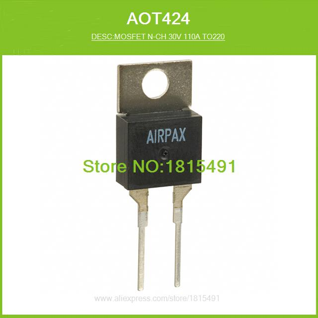 5X T424 424 AOT424 N-Channel Enhancement Mode Field Effect Transistor TO-220