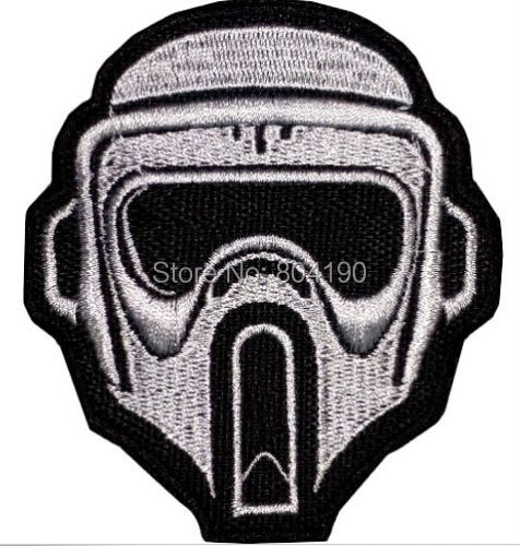 NEW UNUSED Star Wars Clone Trooper Mask Logo Embroidered Patch