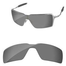 ebbc4321d8fe6 Cromo Negro espejo polarizado lentes de recambio de Libertad Condicional para  gafas de sol marco 100% UVA y UVB protección