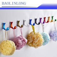 BAOLINLONG 10PCS Aluminum Alloy robe hook bathroom hangings towel rack clothes Shoulder bag Totes Purse Backpack wallet Top