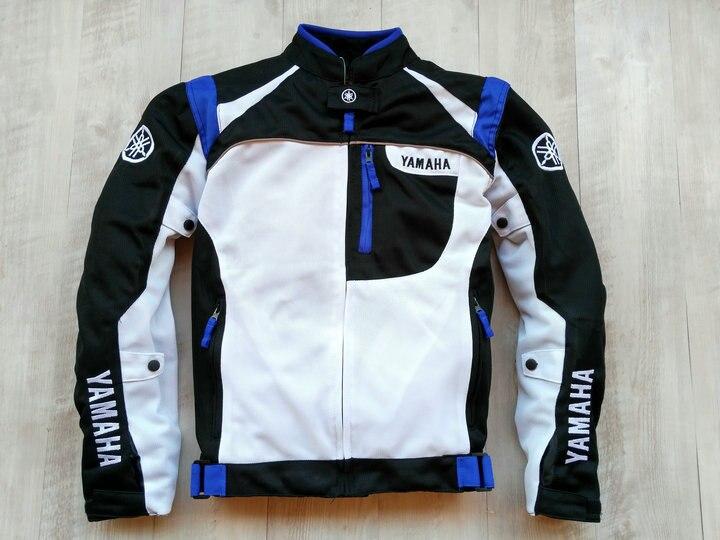 Moto Textile bleu équitation protéger veste pour YAMAHA course moto Motocross pour vêtements d'hiver